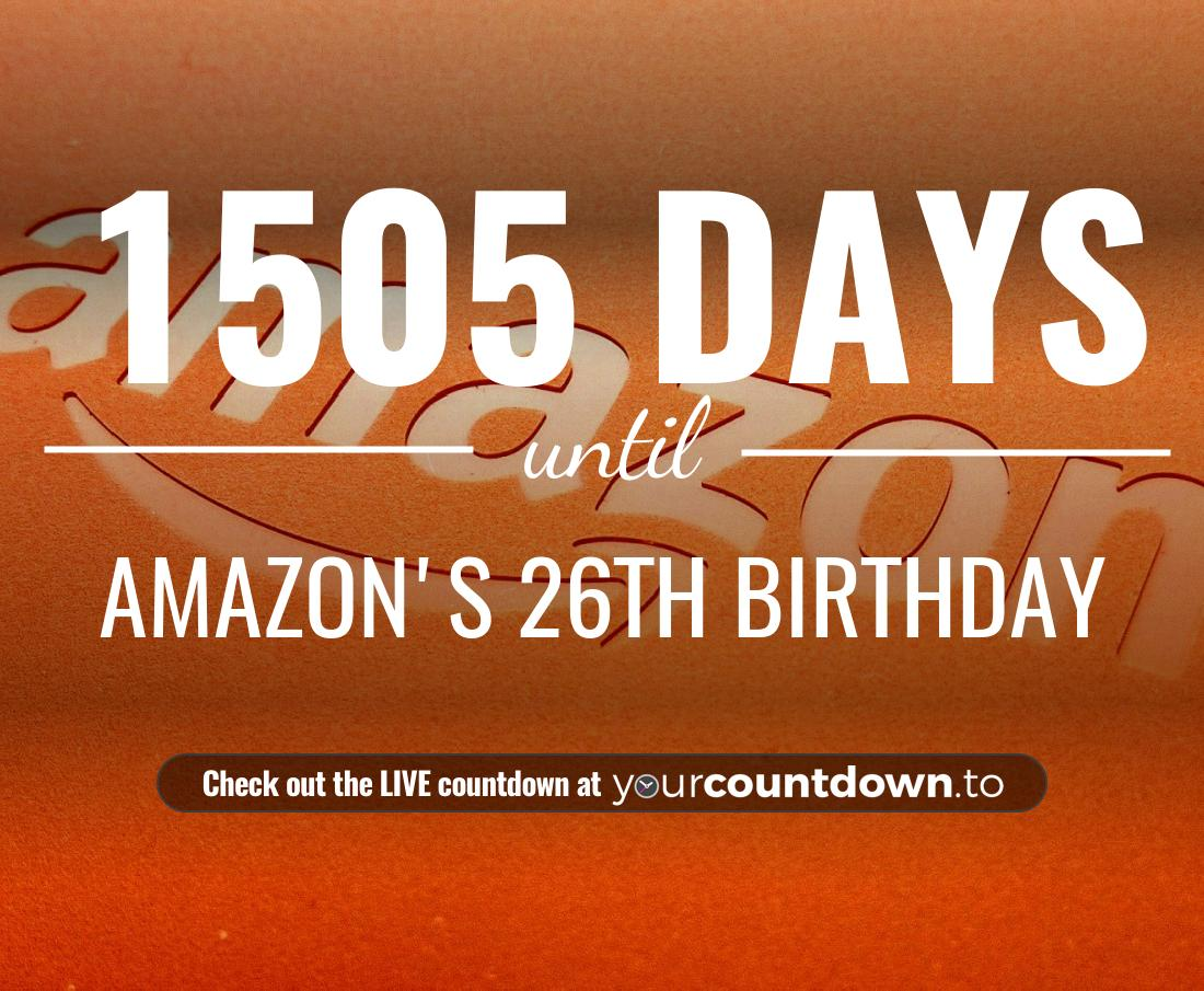 Countdown to Amazon's 25th Birthday