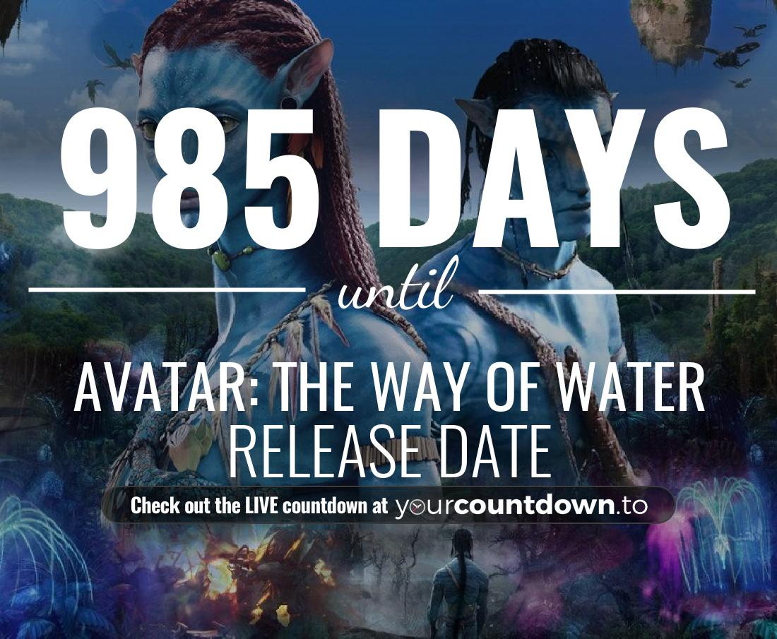 Countdown to Avatar 2 Release Date