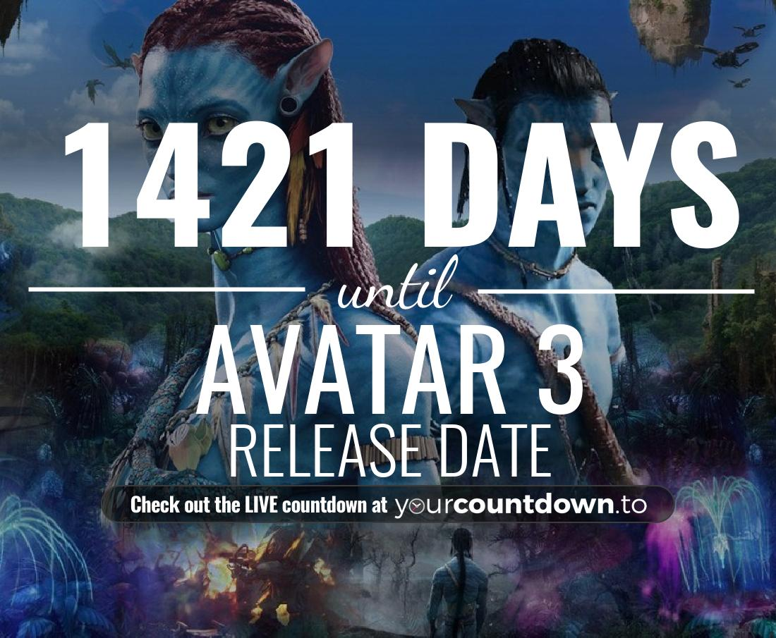 Countdown to Avatar 3 Release Date