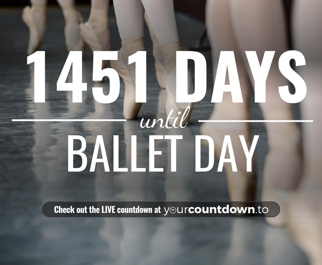 Countdown to Ballet Day