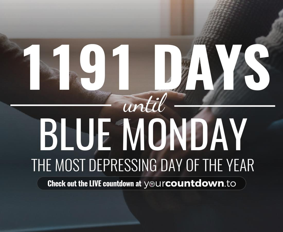 Countdown to Blue Monday The most depressing day of the year