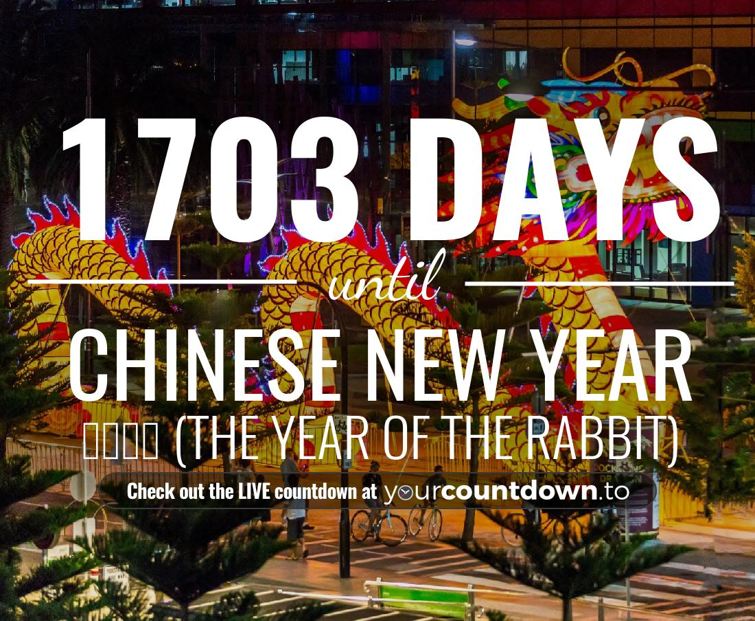 Countdown to Chinese New Year