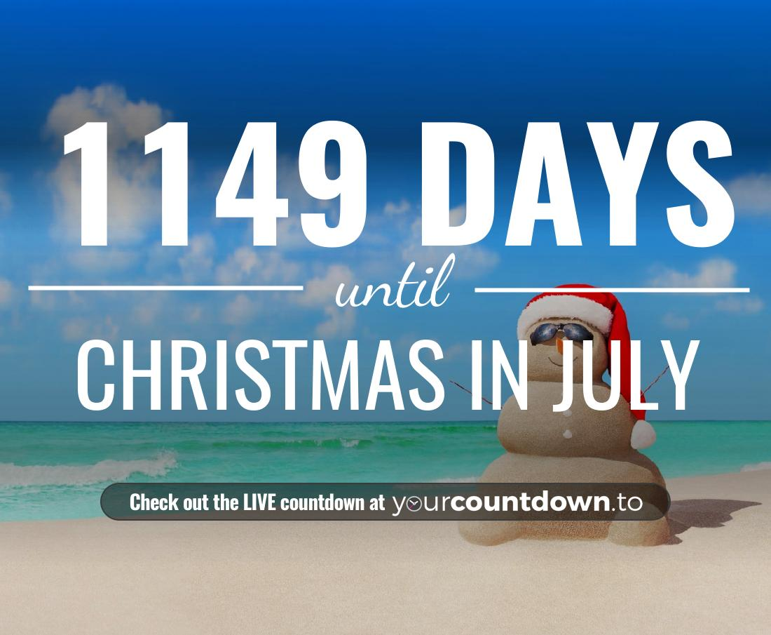 Countdown to Christmas in July