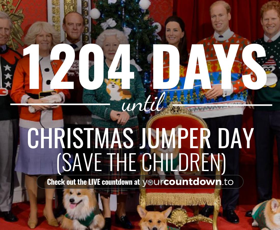 Countdown to Christmas Jumper Day (Save The Children)