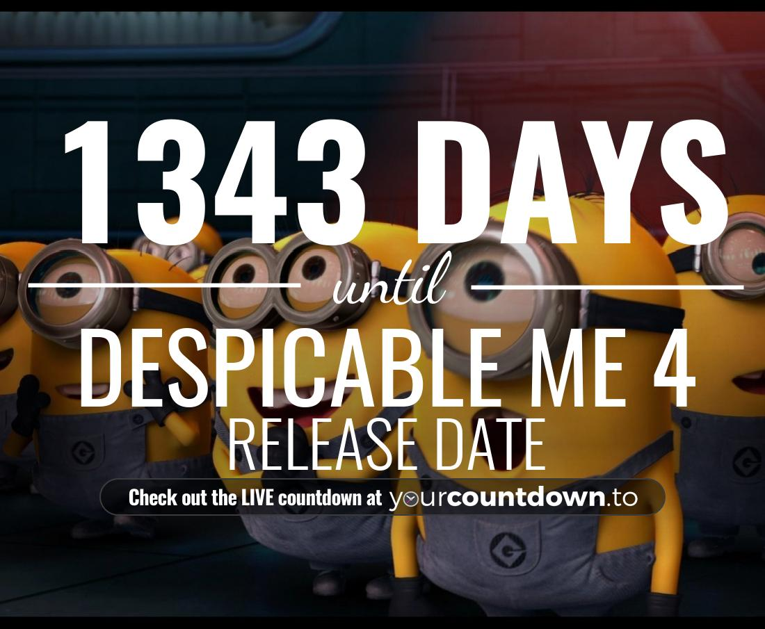 Countdown to Despicable Me 4 Release Date