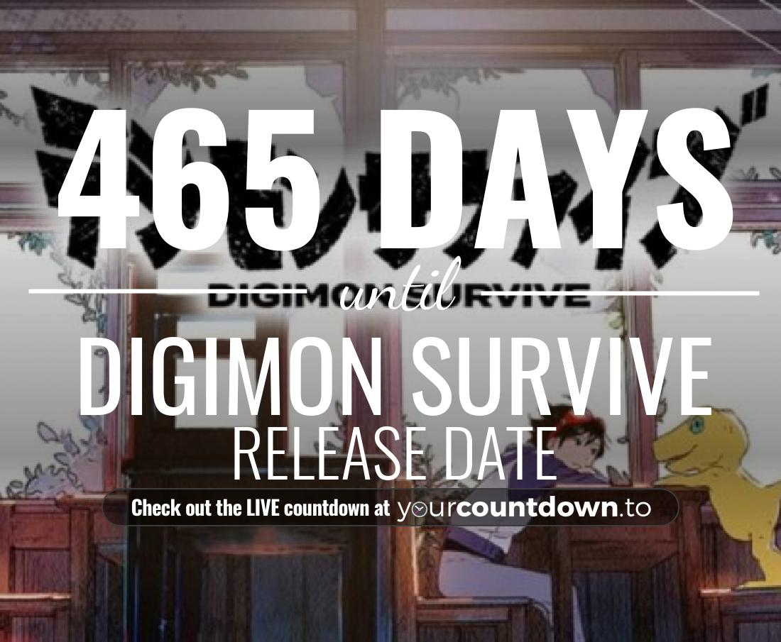 Countdown to Digimon Survive Release Date