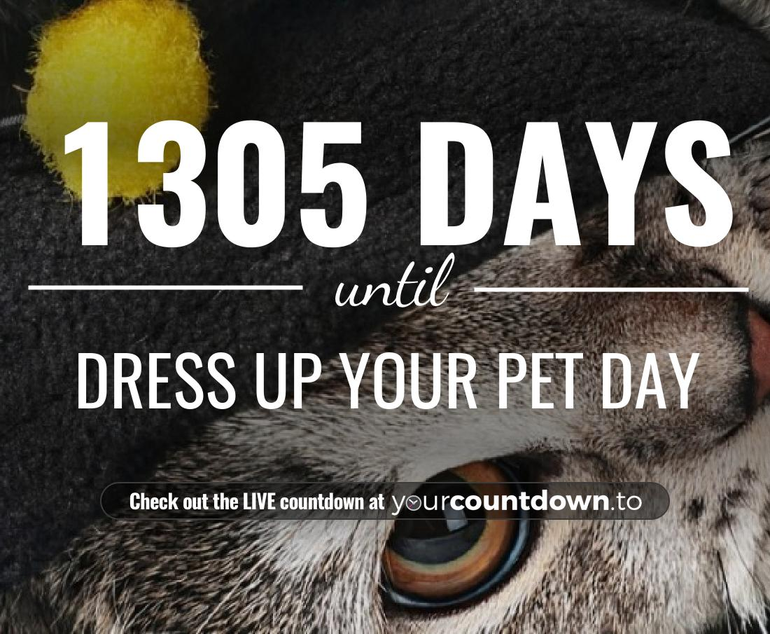 Countdown to Dress Up Your Pet Day