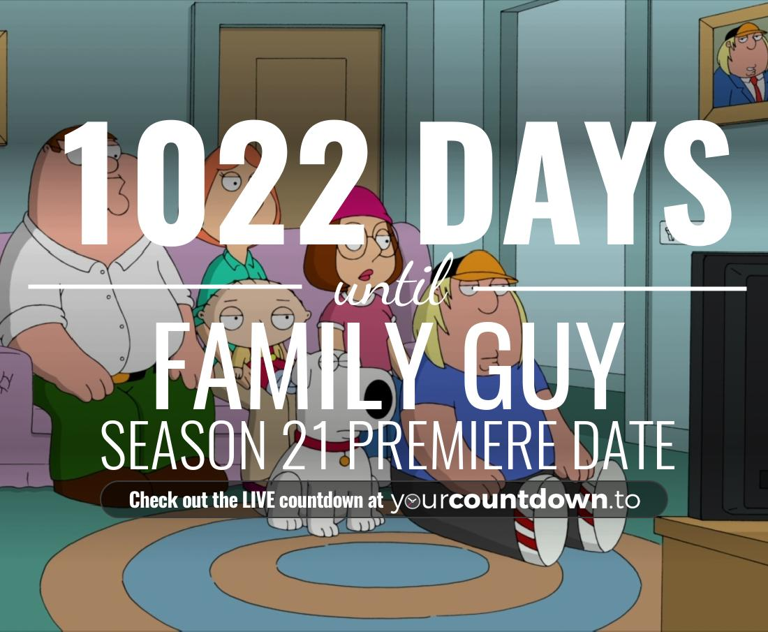 Countdown to Family Guy Season 18 Episode 9