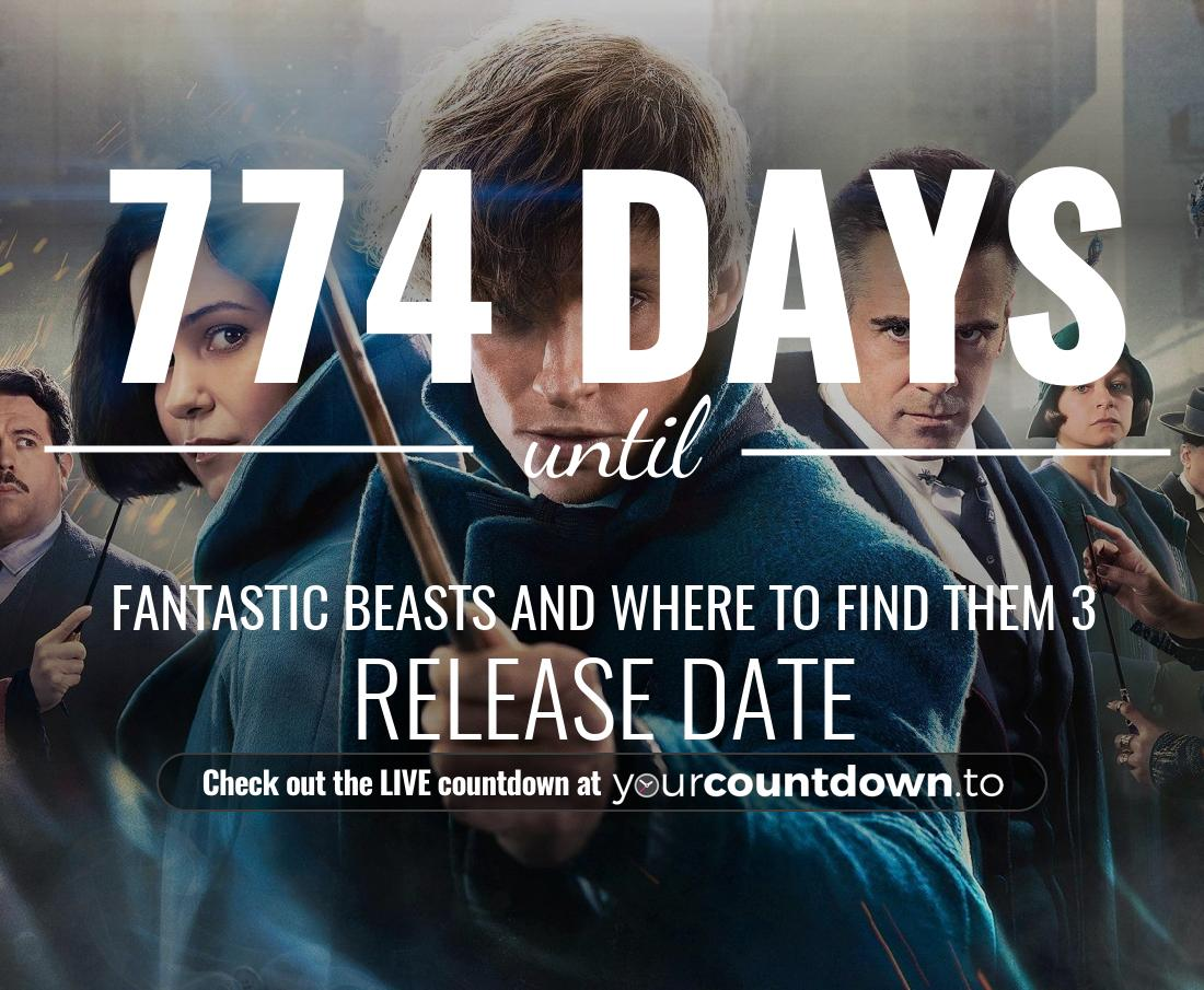 Countdown to Fantastic Beasts and Where to Find Them 3 Release Date