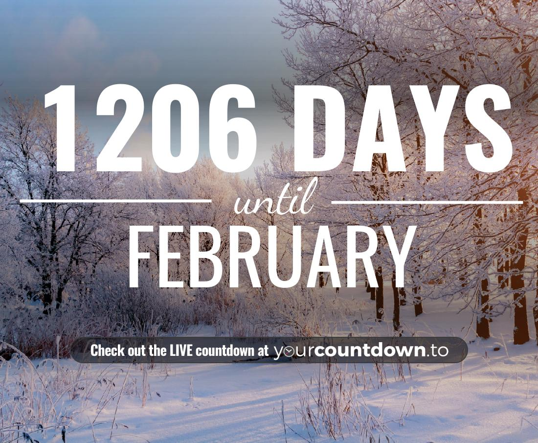 Countdown to February