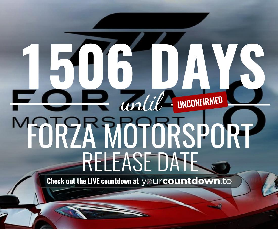 Countdown to Forza Motorsport 8 Release Date
