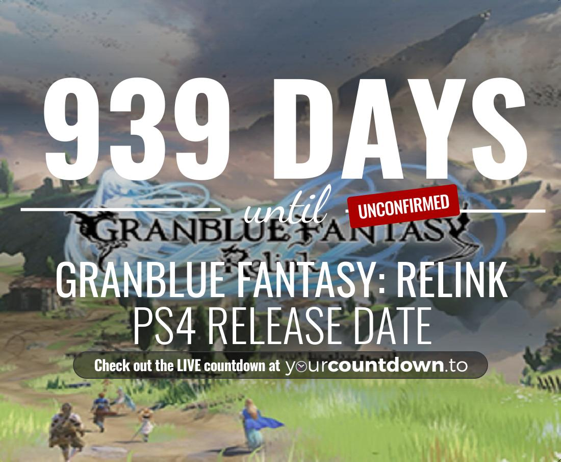Countdown to Granblue Fantasy: Relink PS4 Release Date