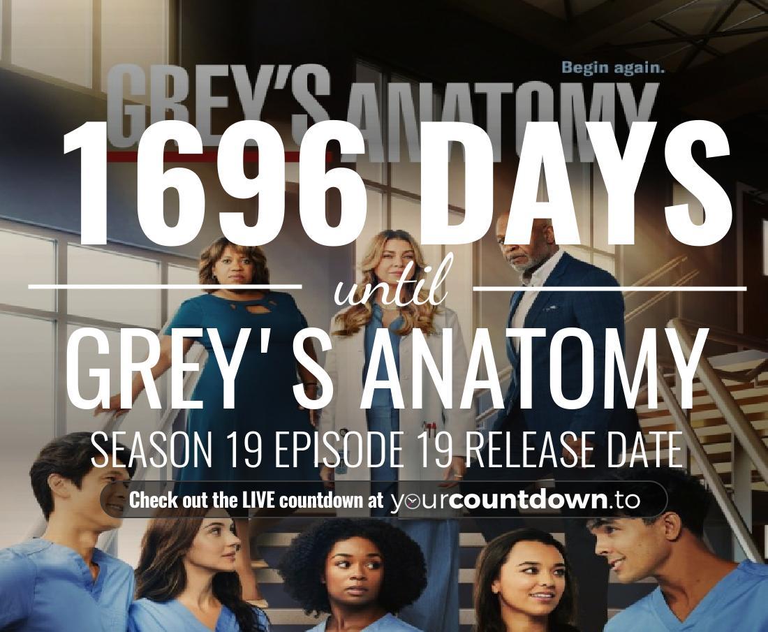 Countdown To Grey\'s Anatomy Season 15 Release Date