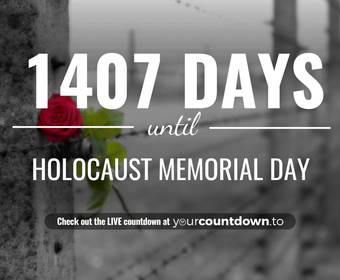 Countdown to Holocaust Memorial Day