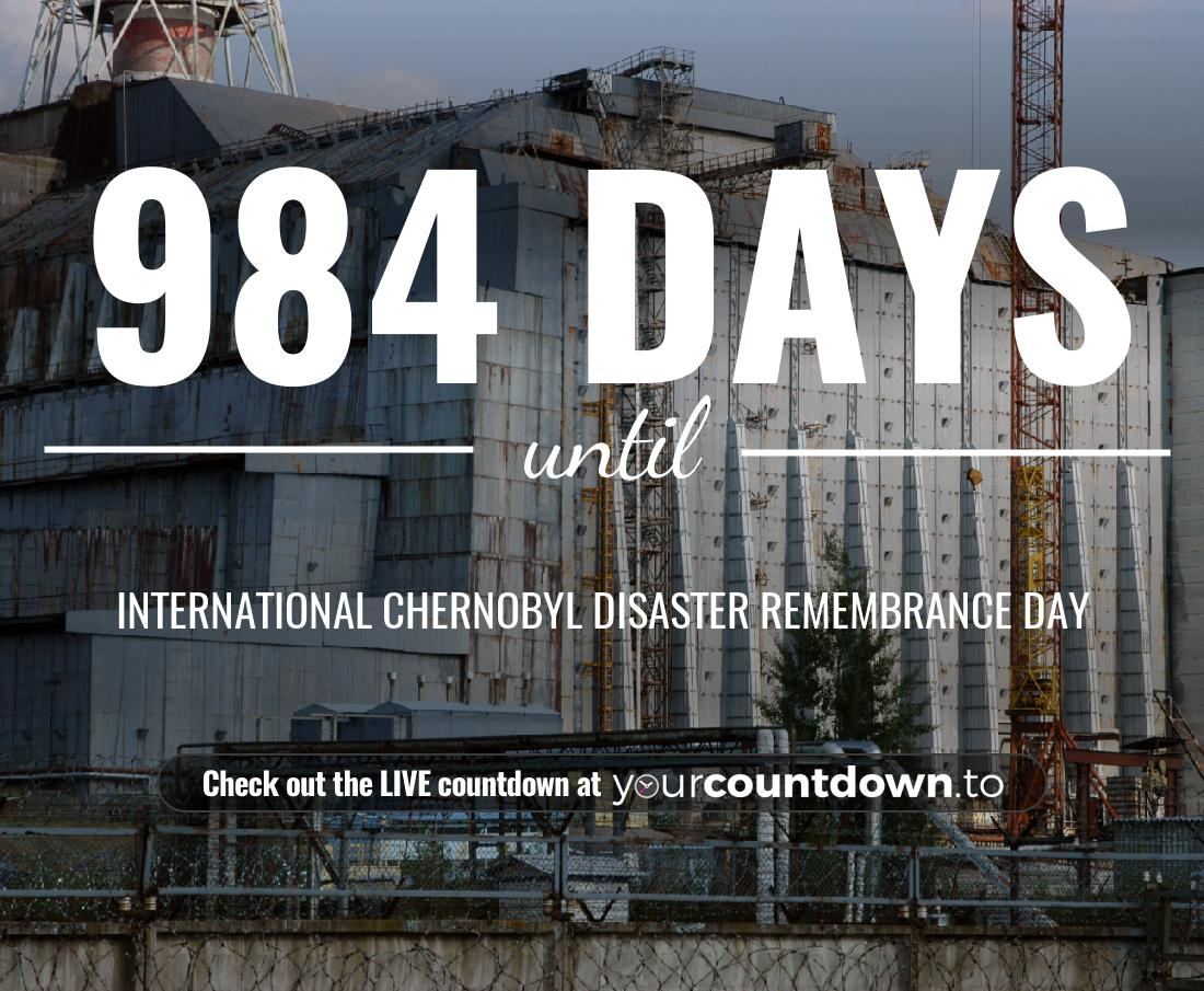 Countdown to International Chernobyl Disaster Remembrance Day