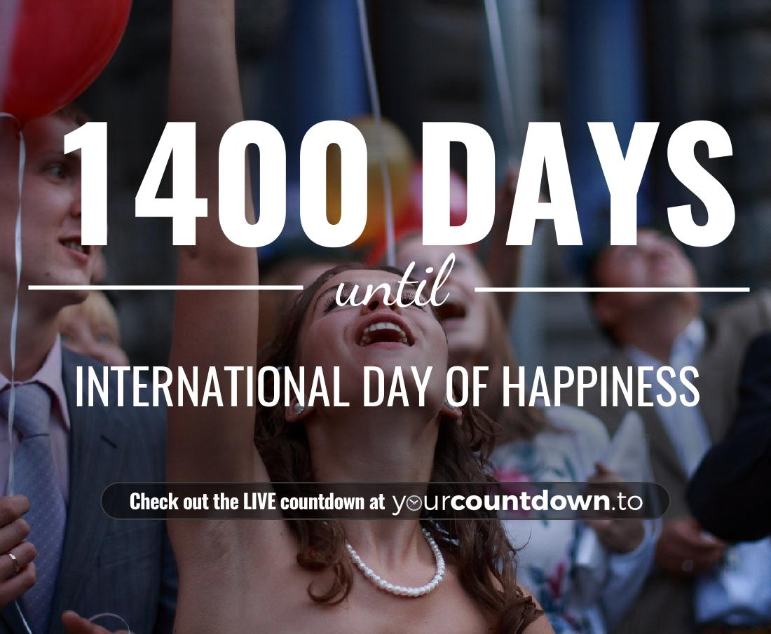 Countdown to International Day of Happiness