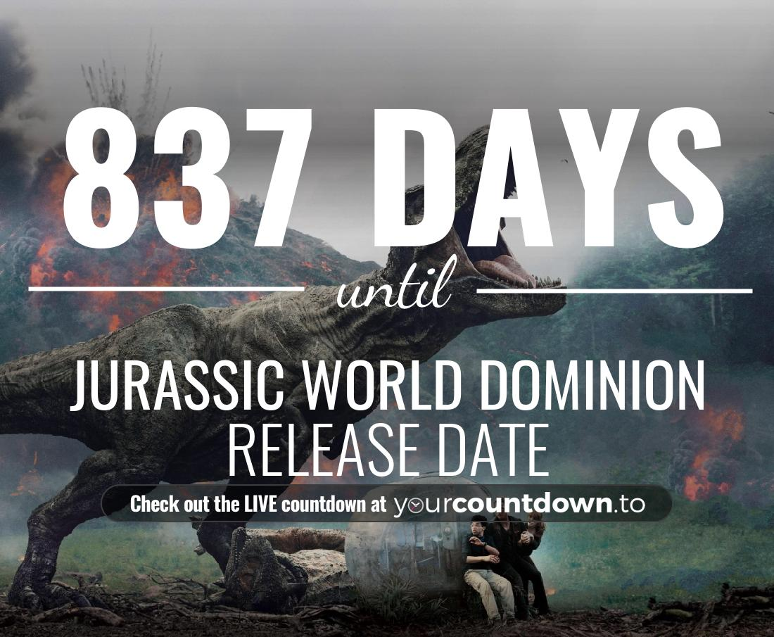 Countdown to Jurassic World 3 Release Date