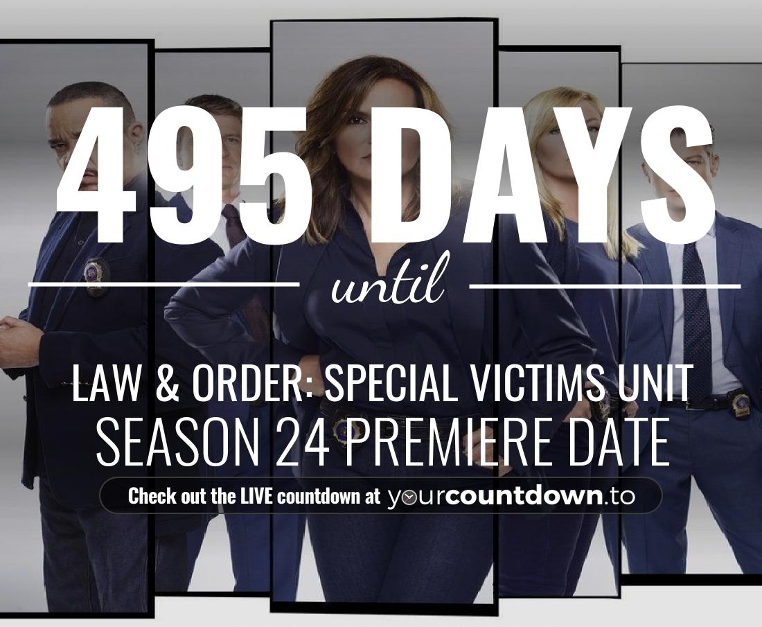Countdown to Law & Order: Special Victims Unit Season 22 Episode 14