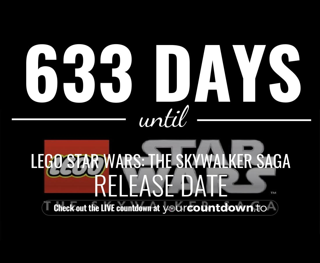 Countdown to LEGO Star Wars: The Skywalker Saga Release Date