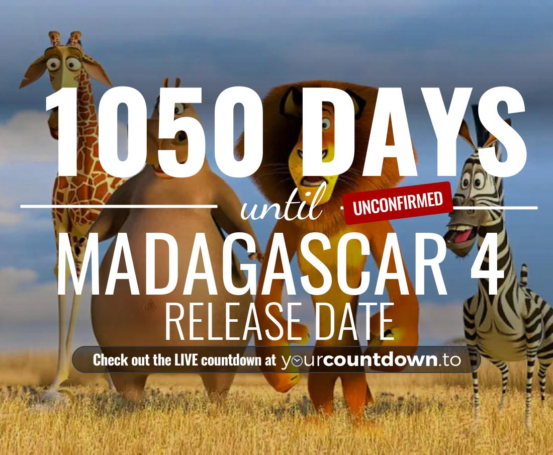 Countdown to Madagascar 4 Release Date