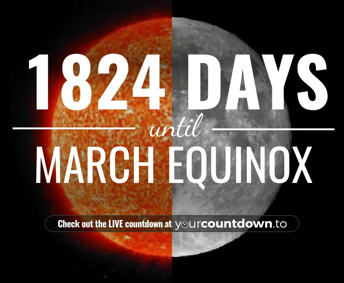 Countdown to March Equinox