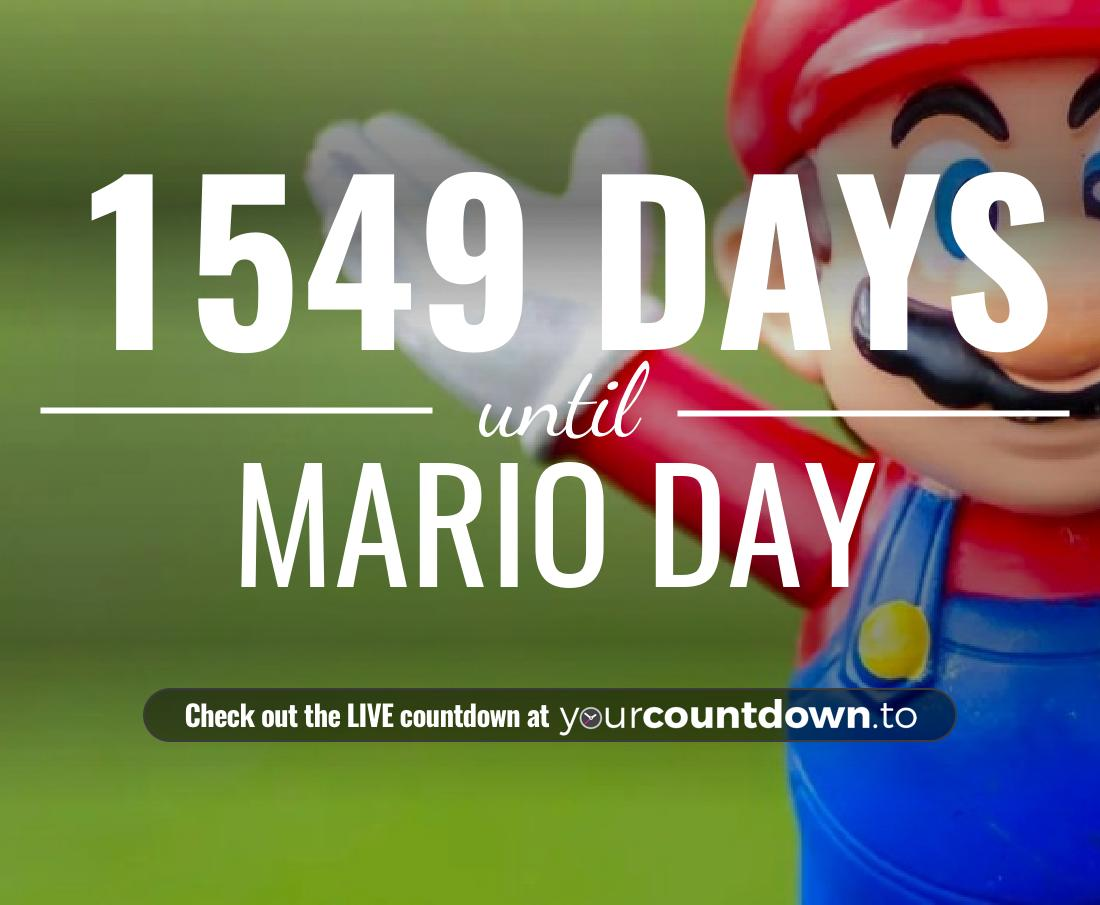 Countdown to Mario Day
