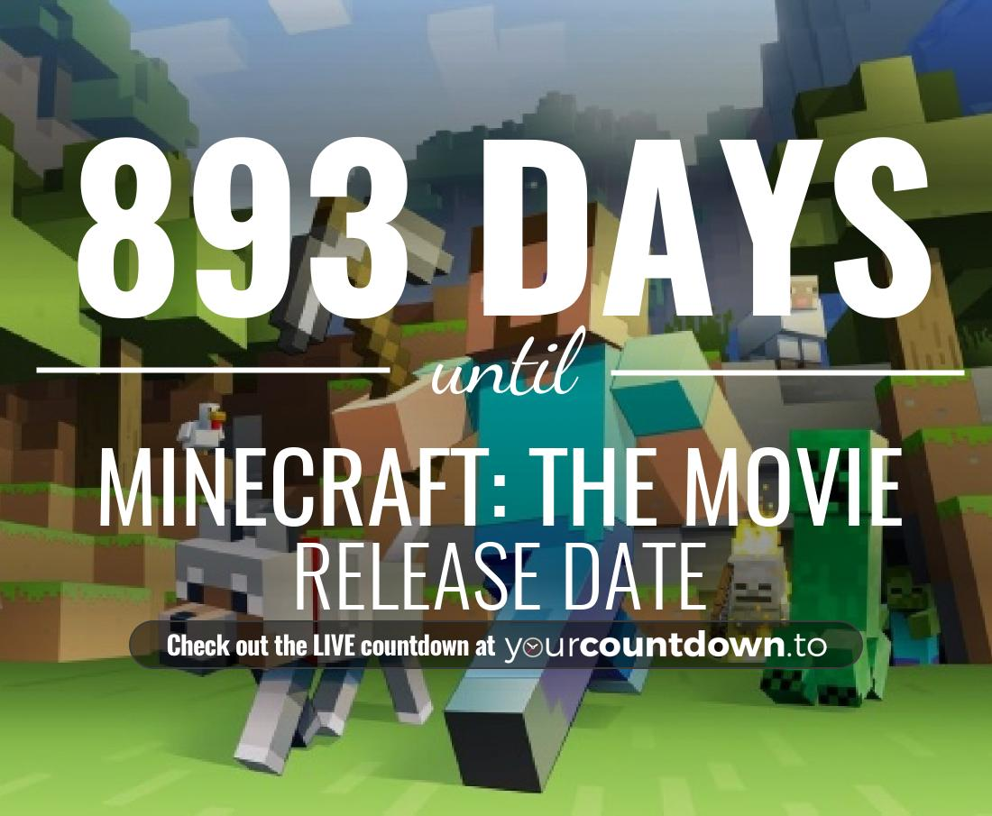 Countdown to Minecraft: The Movie Release Date