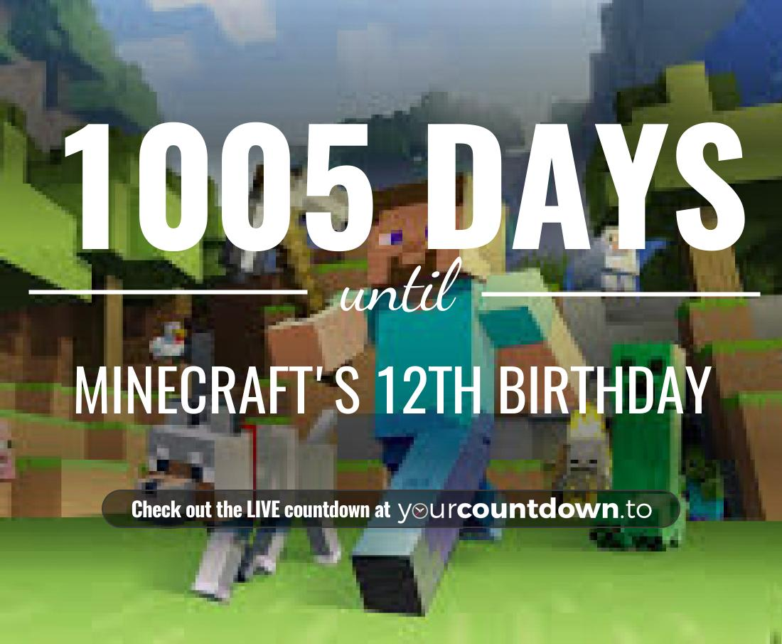 Countdown to Minecraft's 12th Birthday