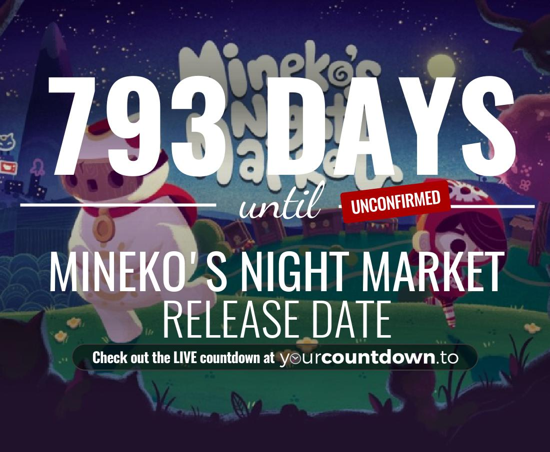 Countdown to Mineko's Night Market Release Date