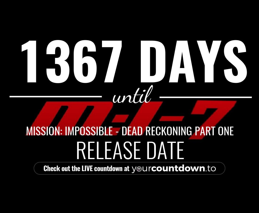 Countdown to Mission: Impossible 7 Release Date