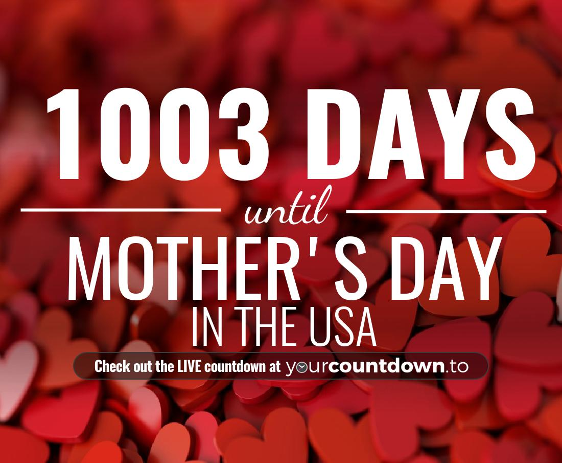 Countdown to Mother's Day In the USA