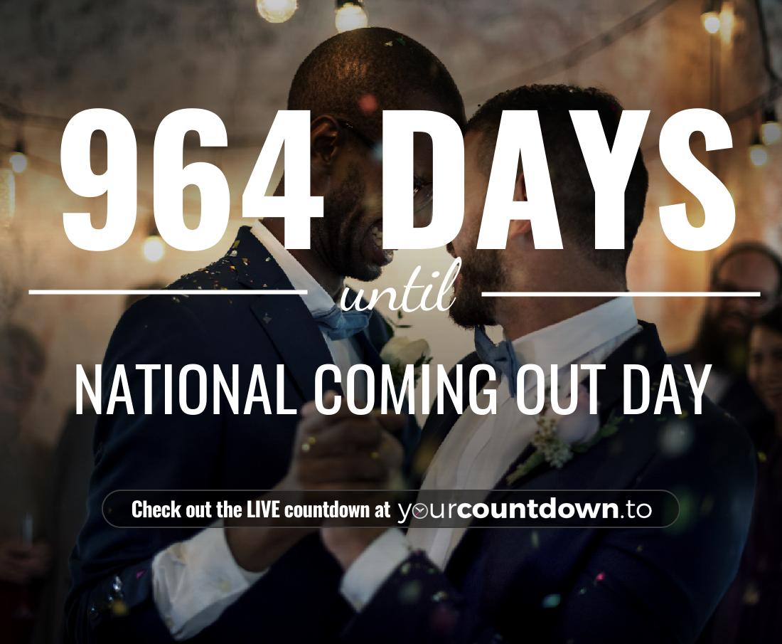 Countdown to National Coming Out Day