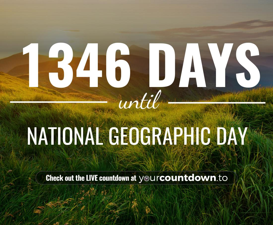 Countdown to National Geographic Day
