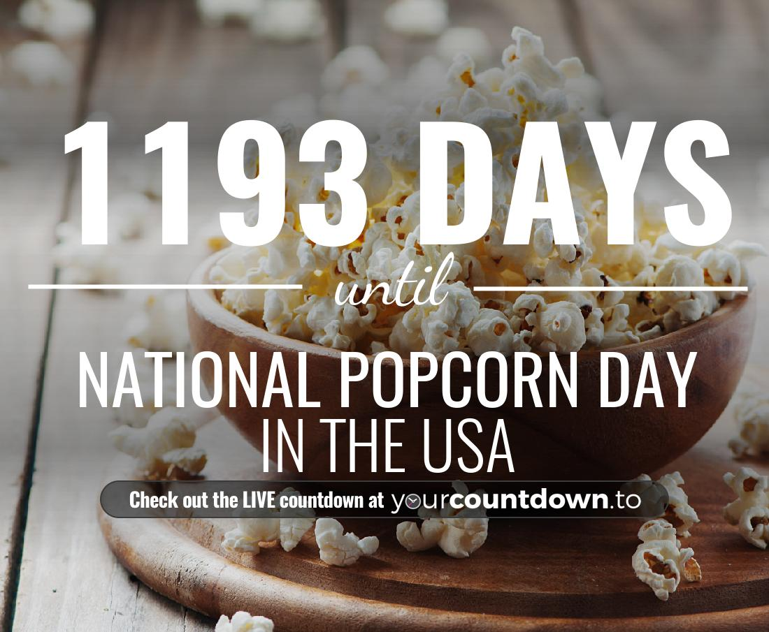 Countdown to National Popcorn Day In the USA