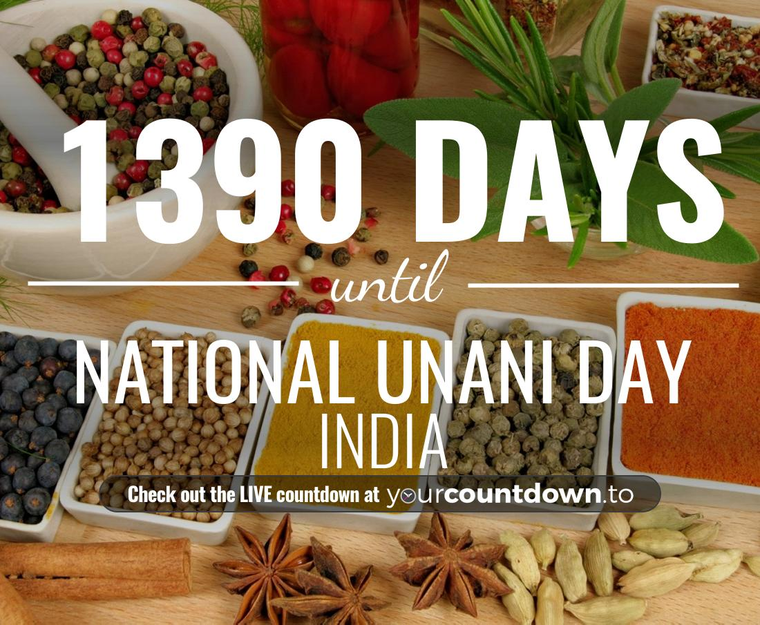 Countdown to National Unani Day India