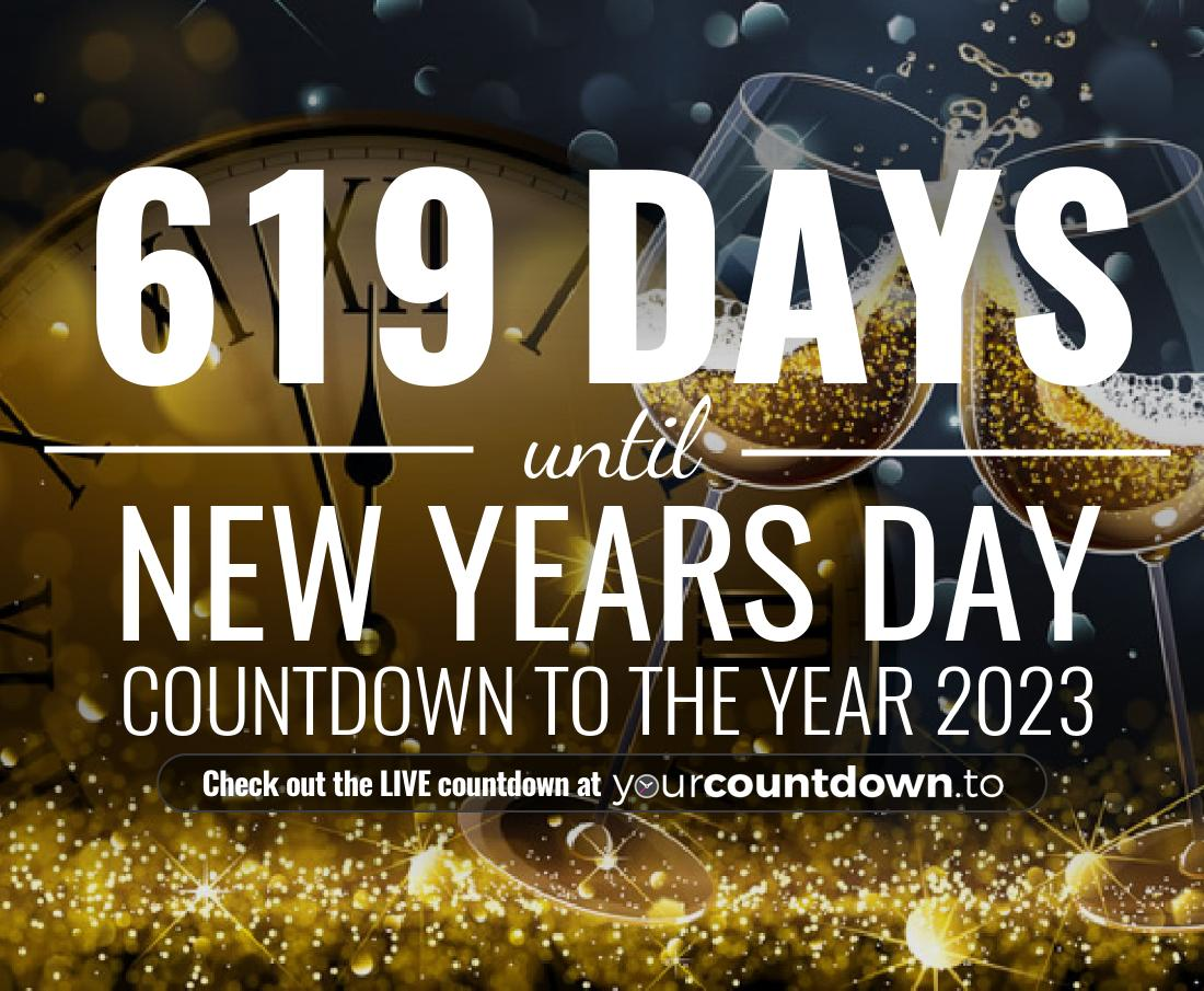 Countdown to New Years Day Countdown to the year 2022