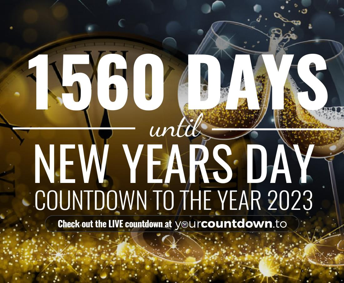 Countdown to New Years Day Countdown to the year 2018