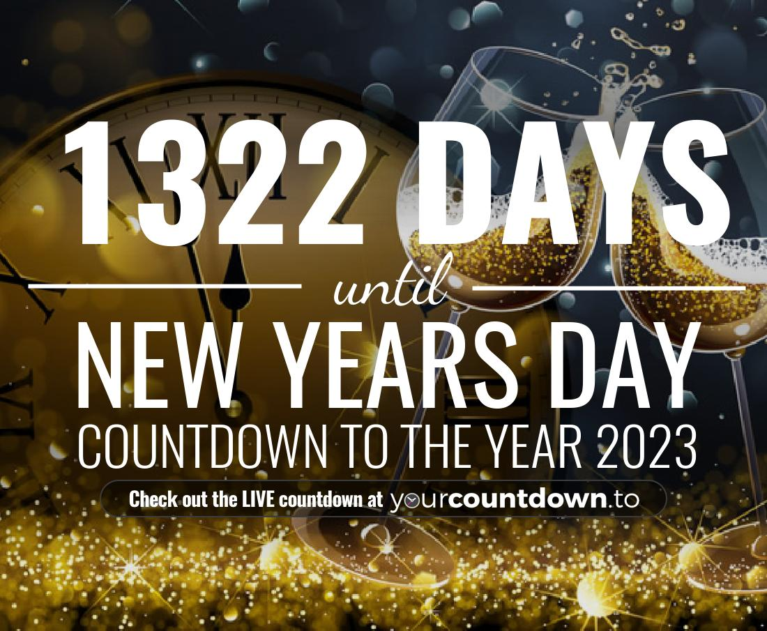 Countdown to New Years Day Countdown to the year 2020