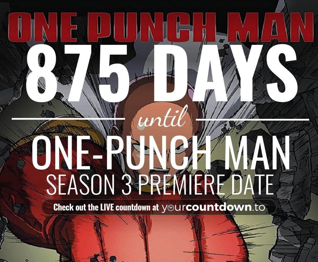 Countdown to One-Punch Man Season 3 Premiere Date