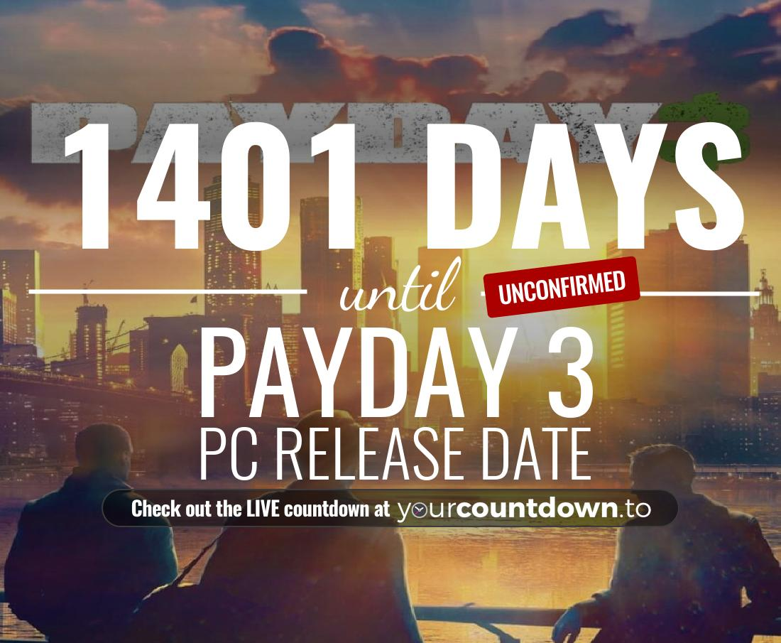 Countdown to Payday 3 PC Release Date