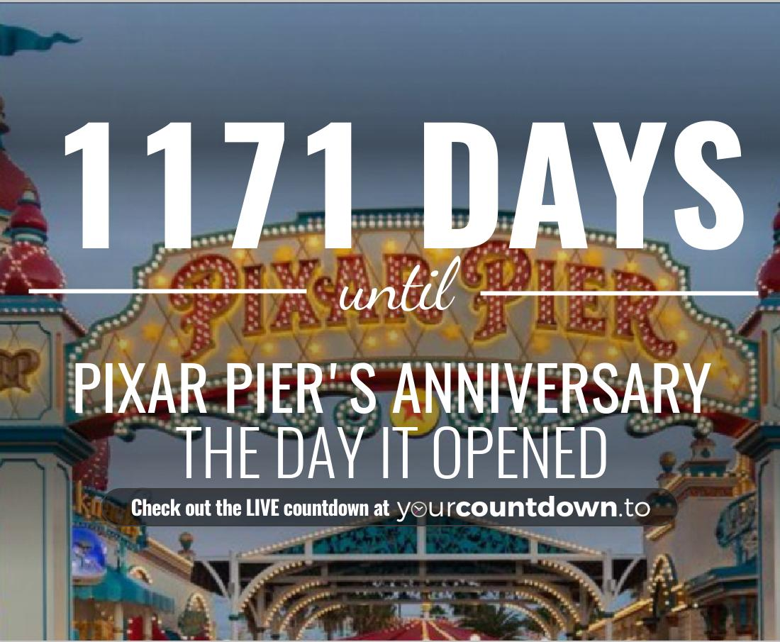 Countdown to Pixar Pier's Anniversary The Day it opened