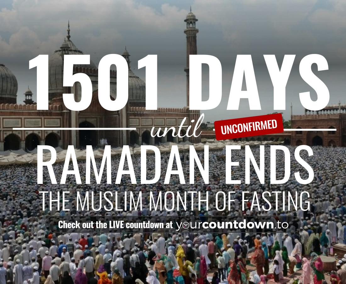 Countdown to Ramadan Ends The muslim month of fasting