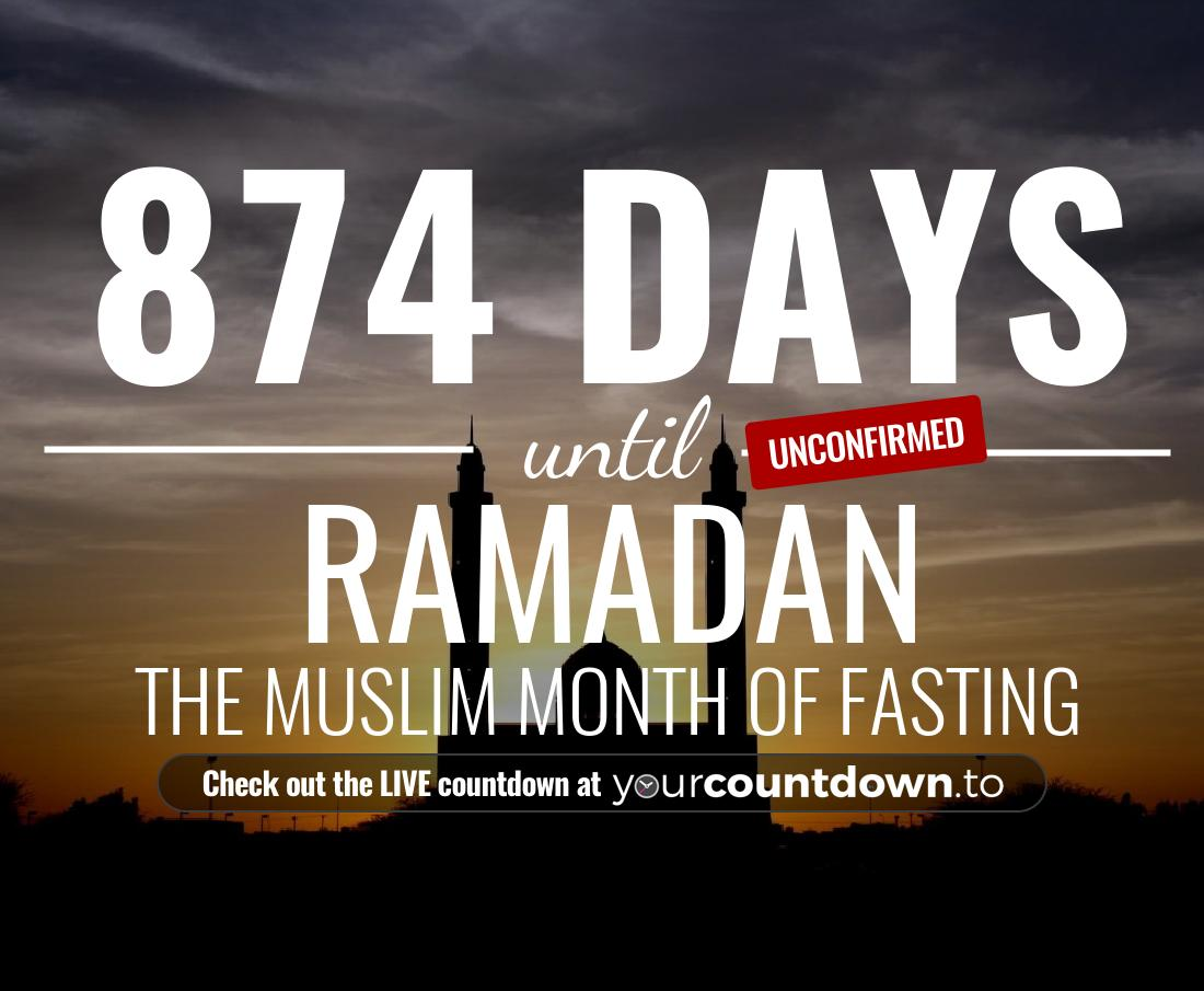 Countdown to Ramadan The muslim month of fasting