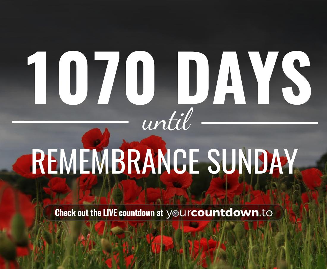 Countdown to Remembrance Sunday