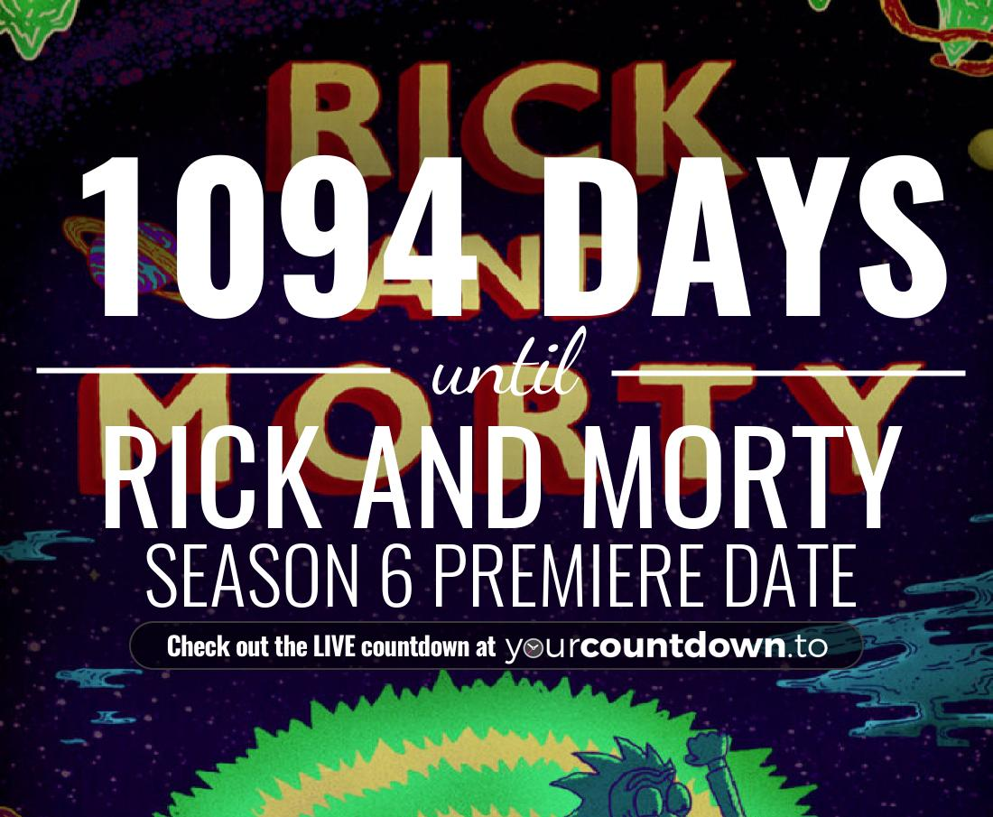 Countdown To Rick and Morty | Season 4 Premiere Date