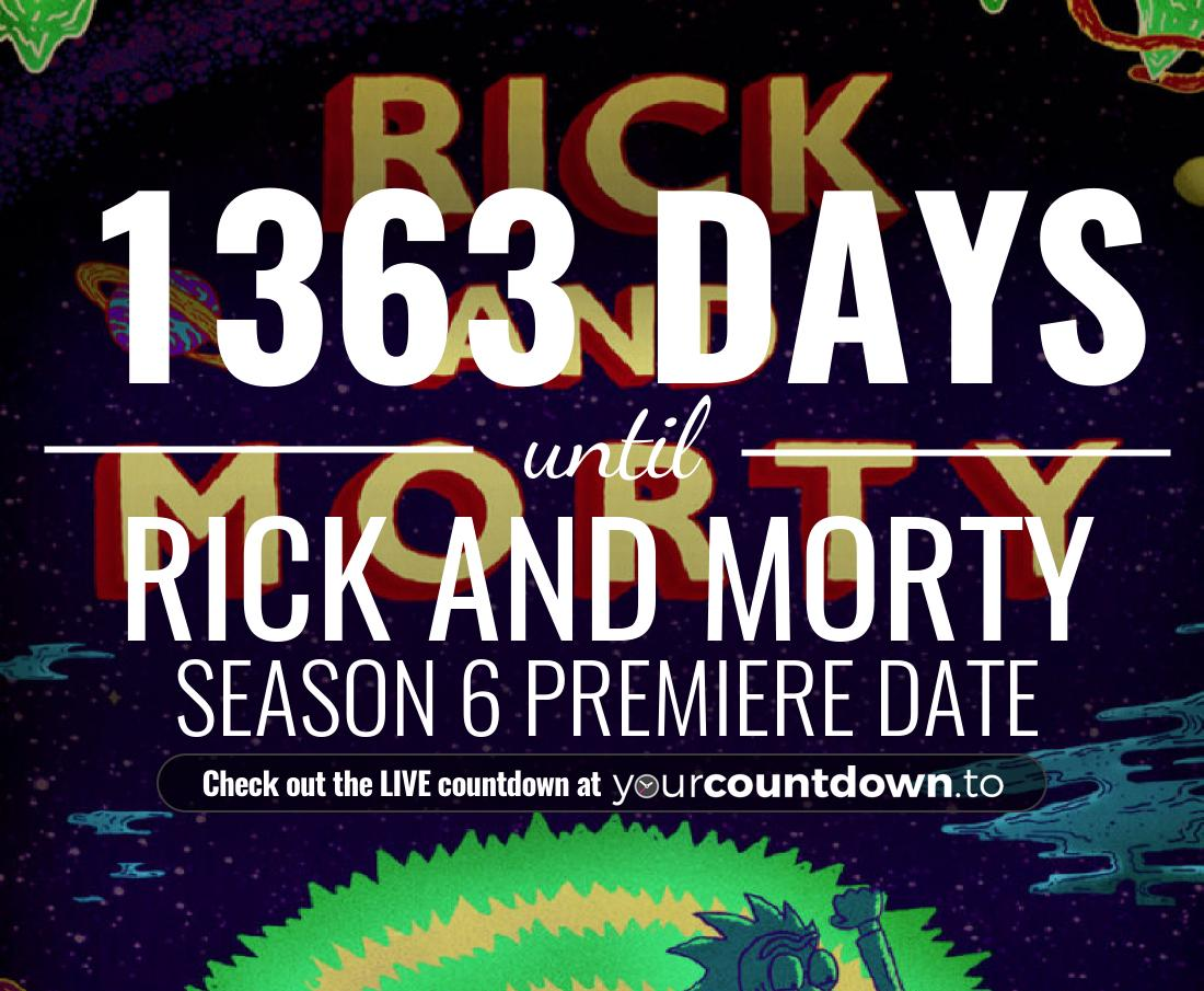 Countdown to Rick and Morty Season 4 Release Date