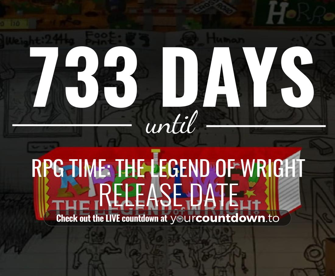 Countdown to RPG TIME: The Legend of Wright Release Date