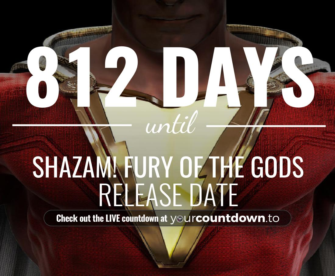 Countdown to Shazam! Fury of the Gods Release Date
