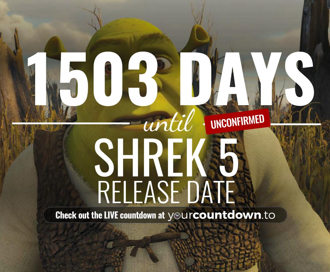 Countdown to Shrek 5 Release Date