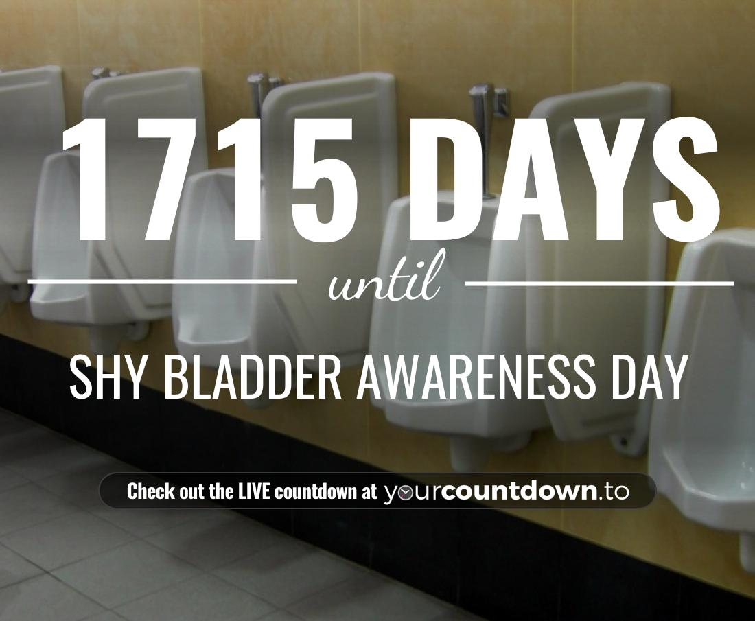 Countdown to Shy Bladder Awareness Day
